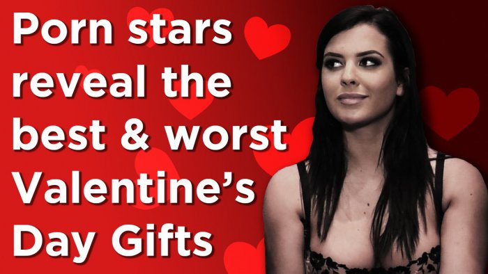 adult starlets reveals their best and worst valentine's day gifts