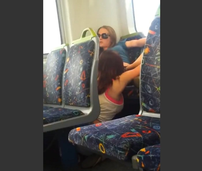 hot amateur lesbians on train